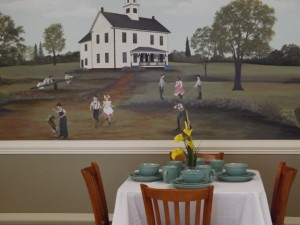 dining at the mural